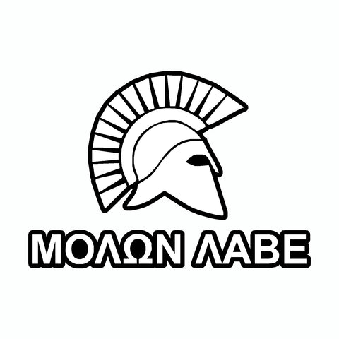 Molon Labe Spartan Helmet White Come And Take It 2nd Amendment Car Sticker