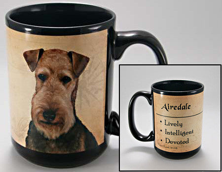 Faithful Friends Airedale Terrier Dog Breed Coffee Mug