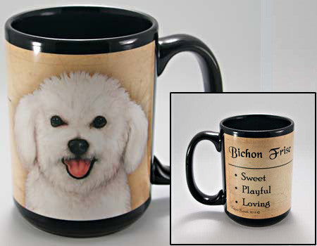 Faithful Friends Bichon Frise Dog Breed Coffee Mug