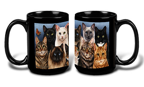 Faithful Friends Menagerie of Cats Breed Coffee Mug
