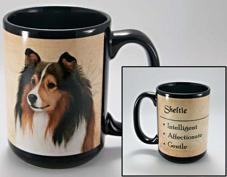 Faithful Friends Sheltie Dog Breed Coffee Mug