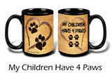 Faithful Friends My Children Have Four Paws Dog 15oz Coffee Mug Cup