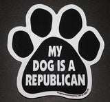 My Dog Is A Republican Dog Paw Magnet