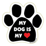My Dog Is My Heart Love Dog Paw Magnet
