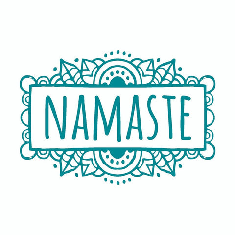 Namaste Yoga Mandala Tribal Vinyl Car Sticker