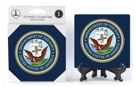 United States US Navy Stone Drink Coaster
