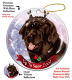 Newfoundland Chocolate Newfie Howliday Dog Christmas Ornament