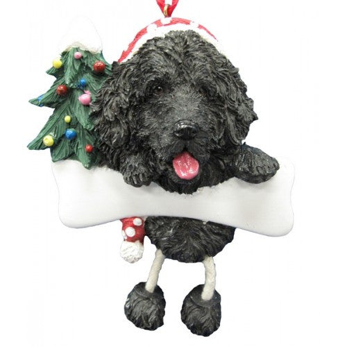 Dangling Leg Newfoundland Dog Christmas Ornament