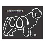 K Line Newfoundland Newfie Dog Car Window Decal Tattoo