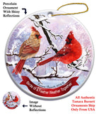 Northern Cardinal Howliday Bird Christmas Ornament