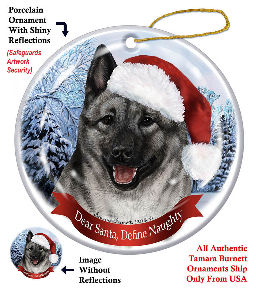 Norwegian Elkhound Howliday Dog Christmas Magnet