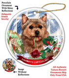 Norwich Terrier Howliday Dog Christmas Magnet