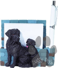 Black Labrador Dog Magnetic Notepad Holder includes Pad and Pen