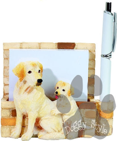 Yellow Labrador Dog Magnetic Notepad Holder includes Pad and Pen