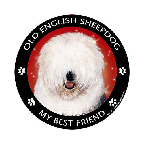 Old English Sheepdog My Best Friend Dog Breed Magnet