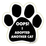 Oops I Adopted Another Cat Dog Paw Magnet