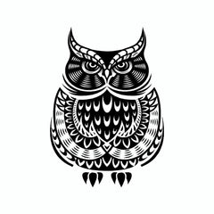 Owl Tribal Vinyl Car Sticker