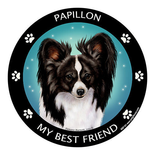 Papillon Black My Best Friend Dog Breed Magnet
