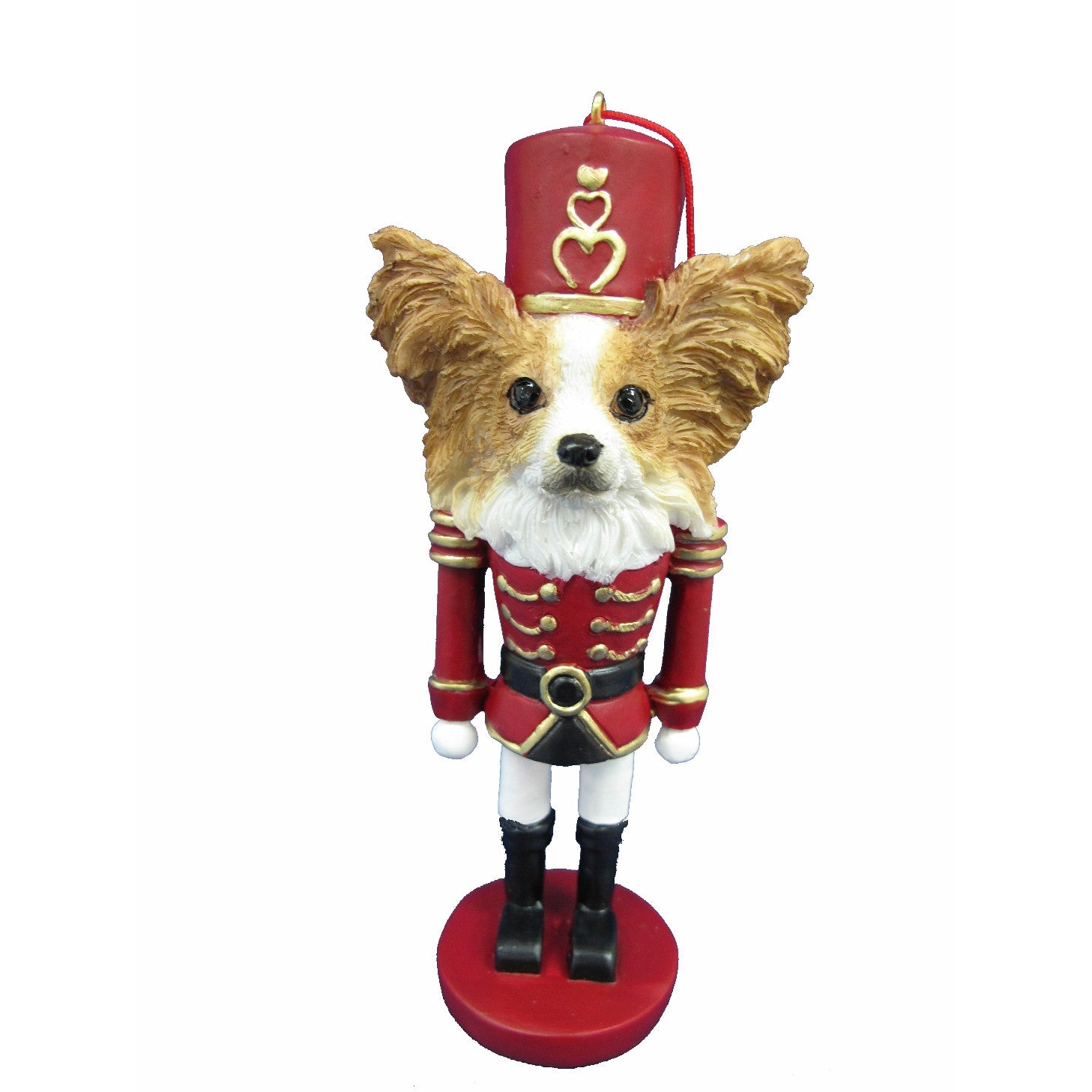 Papillon Dog Toy Soldier Nutcracker Christmas Ornament