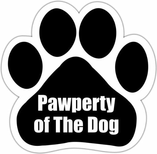 Pawperty Of The Dog Paw Magnet