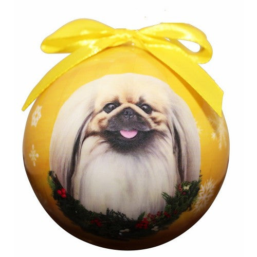 Pekingese Shatterproof Dog Breed Christmas Ornament