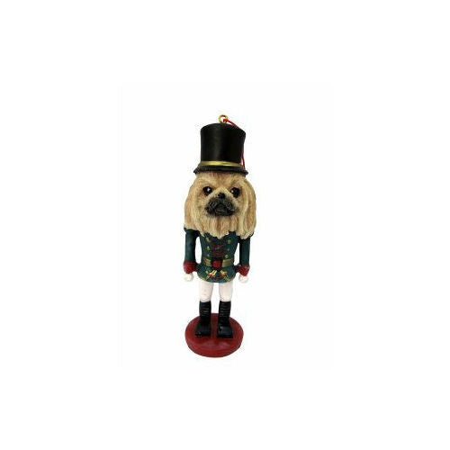Pekingese Dog Toy Soldier Nutcracker Christmas Ornament