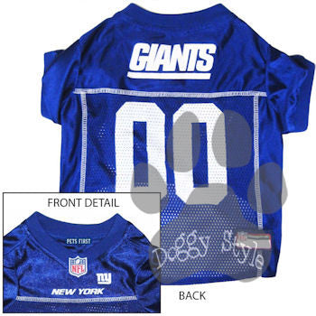 Pet's First Officially Licensed New York Giants Dog Football Jersey