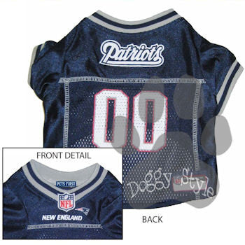 Pet's First Officially Licensed NFL New England Patriots Dog Football Jersey
