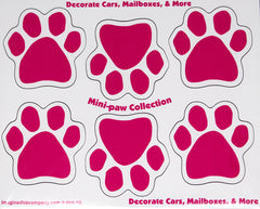 6 Mini Paws Pink Dog Paw Magnet
