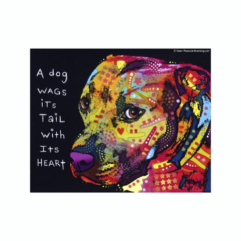 Pit Bull A Dog Wags Its Tail With Its Heart Dean Russo Vinyl Dog Car Sticker