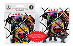 Pit Bull Choose Adoption Dean Russo Drink Coaster