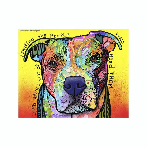 Pit Bull Dogs Have A Way Of Finding The People Who Need Them Dean Russo Vinyl Dog Car Sticker