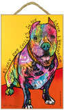 Pit Bull Every Dog Smiles In The Same Language Dog Dean Russo Wood Dog Sign