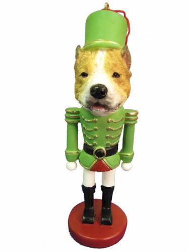 Pit Bull Terrier Tan Dog Toy Soldier Nutcracker Christmas Ornament