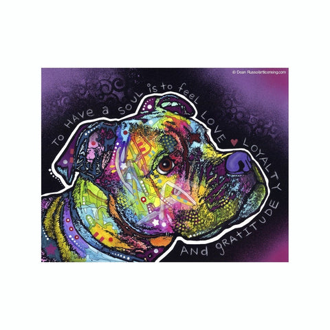 Pit Bull To Have A Soul Is To Feel Love Loyalty Dean Russo Vinyl Dog Car Sticker