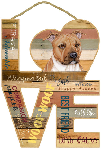 Pit Bull Love Sign