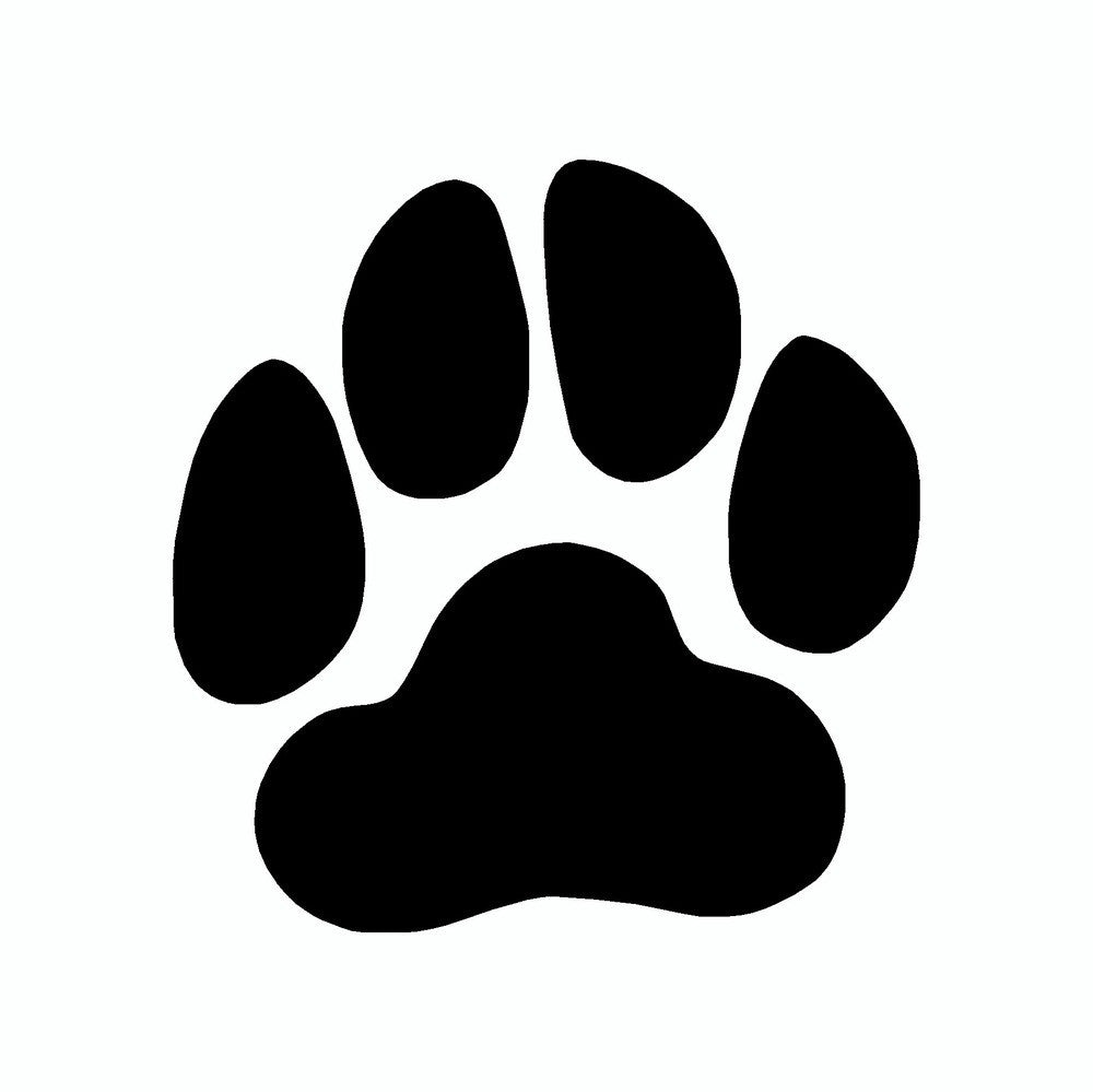 Plain Dog Paw Print Vinyl Dog Car Sticker Doggy Style Gifts