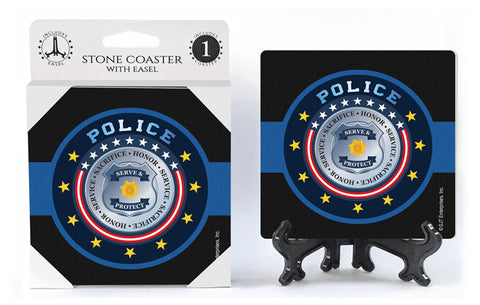 Police Seal Stone Drink Coaster
