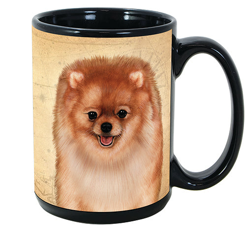 Faithful Friends Pomeranian Red Dog Breed Coffee Mug