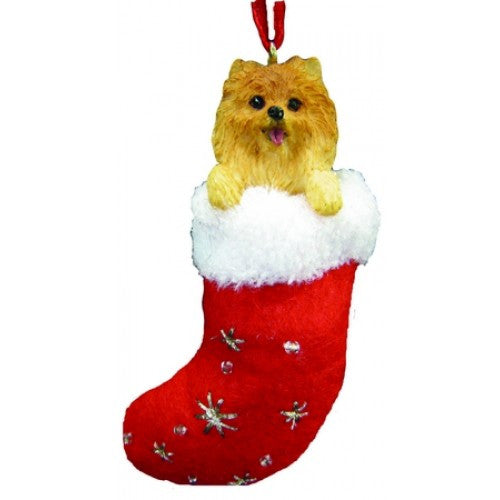 Santa's Little Pals Pomeranian Dog Christmas Ornament