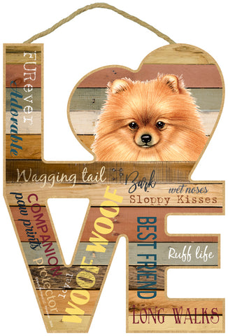 Pomeranian Love Sign