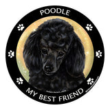 Poodle Black My Best Friend Dog Breed Magnet