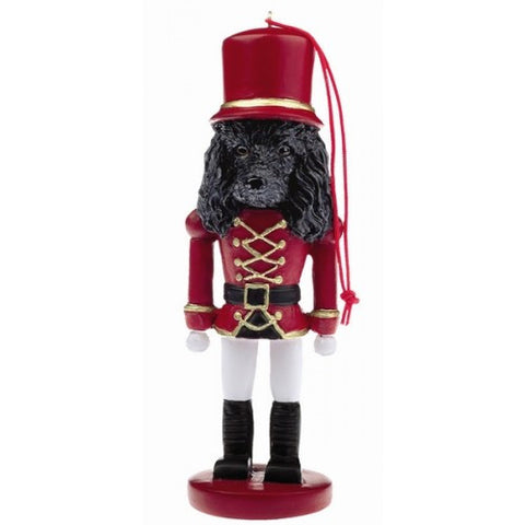 poodle black dog toy soldier nutcracker christmas ornament - Large Toy Soldier Christmas Decoration