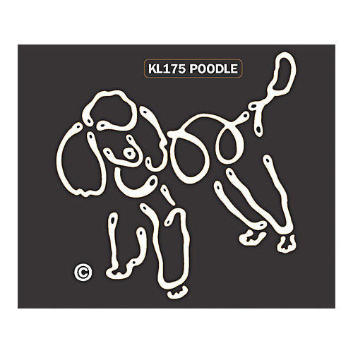 K Line Poodle Dog Car Window Decal Tattoo
