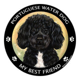 Portuguese Water Dog Black My Best Friend Dog Breed Magnet