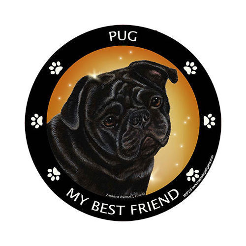 Pug Black My Best Friend Dog Breed Magnet