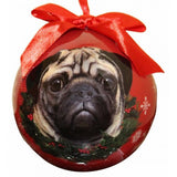 Pug Fawn Shatterproof Dog Breed Christmas Ornament