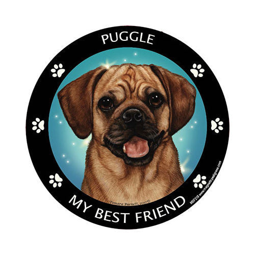 Puggle My Best Friend Dog Breed Magnet