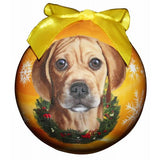 Puggle Shatterproof Dog Christmas Ornament