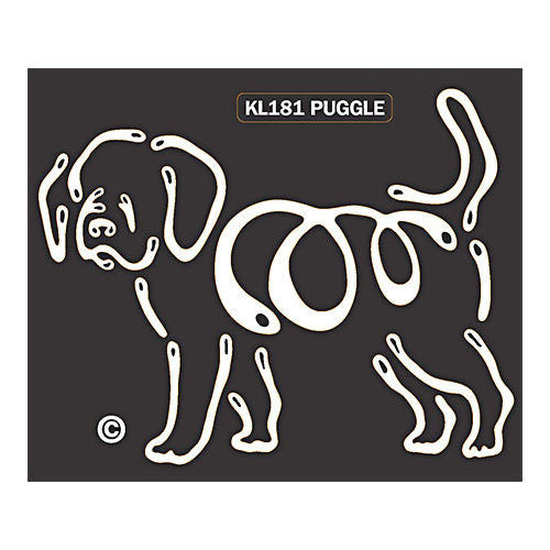 K Lines Puggle Window Tattoo Decal
